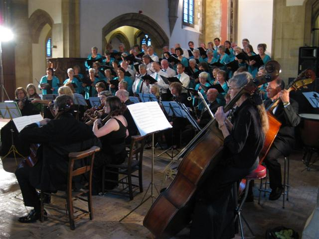 Picture of the choir in concert July 2011